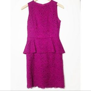 Cynthia Steffe Camille Peplum Lace Sheath Dress